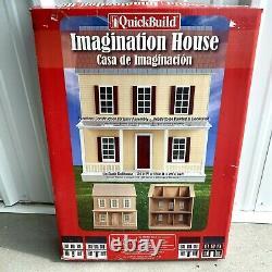 Real Good Toys Quickbuild Imagination Wood dollhouse Kit. New Open Box 67100