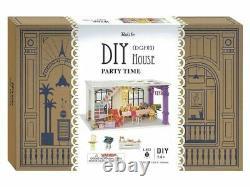 Robotime DIY Miniature Houses 3 Kits STACKABLE SET 3D Wooden Model NEW
