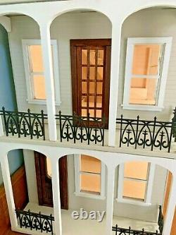 St Charles Dollhouse by Majestic Mansions 3/8 Birch All Wood Built Handcrafted