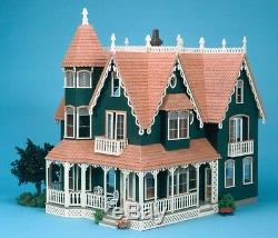 Stylish Garfield Dollhouse Kit Pretend Play Durable All-Wood Construction Toy