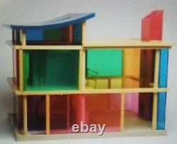 Super Rare KALEIDOSCOPE Doll House by Bozart Toys Plus Free Furniture updated