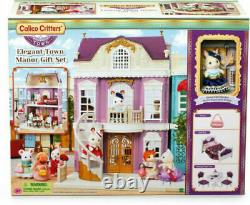 Sylvanian Families Calico Critters Elegant Town Manor New Gift Set Rare