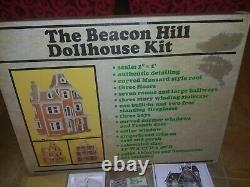 The Beacon Hill Dollhouse Kit By Greenleaf Dollhouse + lights shingles bathroom