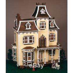 The Beacon Hill Dollhouse Kit Vintage Scale Victorian Wooden Mansion