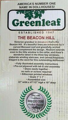 The Beacon Hill Wooden Dollhouse Kit by Greenleaf