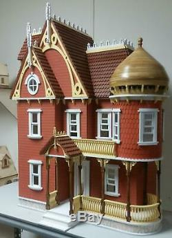 The Hannah Victorian Mansion Dolls House with Turret Flat Pack Laser Cut Kit
