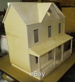 The House That Jack Built Little Bit Dollhouse Unfinished Birch Sanded Clapboard