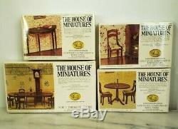 The House of Miniatures Collectors Series Reproduction Furniture. (11 boxes)