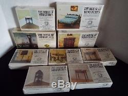The House of Miniatures Lot of 22 Miniature Doll House Kits X-ACTO NEW