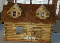 The Pioneer Log Cabin Doll House FULLY ASSEMBLED with Furniture