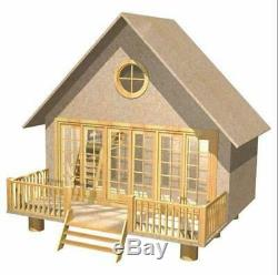 The Retreat Dolls House Holiday Home Chalet Flat Pack MDF Kit 112 Scale