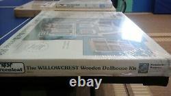 The Willowcrest Wooden Dollhouse Kit # 8005 NIB By Greenleaf