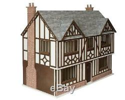 Tudor Beamed 112 Scale Dolls House Kit Unpainted MDF Ready to Assemble