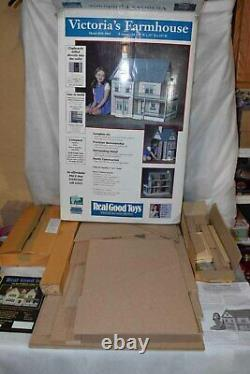 Unused Real Good Toys Victoria's Farmhouse Dollhouse Kit MM-1065 Wood 8 Rooms