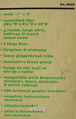 VINTAGE 1985 GREENLEAF No. 8020 VICTORIANNA DOLLHOUSE KIT NEW OLD SCALE 1/2