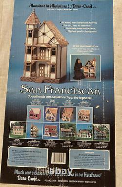 VINTAGE 80s DURA CRAFT SAN FRANCISCAN MANSION DOLLHOUSE KIT SF55O VICTORIAN