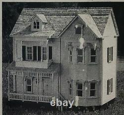 VTG Dollhouse Miniature Real Good Toys Front Opening Victorian Kit! 112 wood
