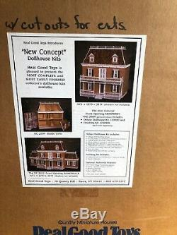 VTG HUGE REAL GOOD TOYS NEW CONCEPT DOLLHOUSE KIT WithBOTH ADDITIONS NEW IN BOXES