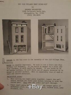 Very Rare Walmer Old Village Shop Dollhouse Kit, Complete In Box! Front Opening