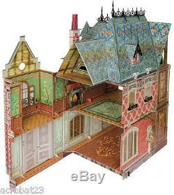 Victorian DOLL HOUSE #1, #2, #3 Full Set DIY Dollhouse Miniature Scale 112 Kit