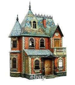 Victorian Doll House Dollhouse 1 2 3 Miniature Scale 112 Model Kit Cardboard 3D