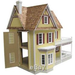 Victorian Dollhouse Farmhouse Kit Vintage Miniature Wood DIY Collectible Model