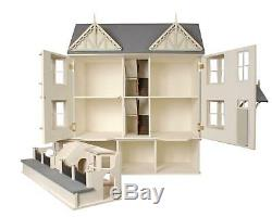Victorian Dolls House & Basement Kit Cedars 112 Scale Unpainted Flat Pack