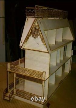 Victorian Farmhouse (124 Scale Dollhouse kit 9 rooms)
