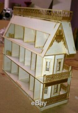 Victorian Farmhouse HALF INCH Scale Dollhouse kit 9 rooms