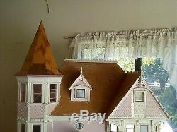 Victorian-Style Dollhouse Handmade (not a kit) 48 x 42 x 32 Unfinished 112