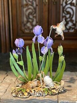 Vintage Artisan Miniature Dollhouse Mary McGrath 1989 Bird In Flight Thread Iris