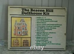 Vintage Beacon Hill Wooden Dollhouse Kit by Greenleaf DS-2 1983 New in Old Box