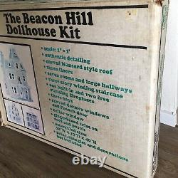 Vintage Beacon Hill Wooden Dollhouse Kit by Greenleaf DS-2 (#8002) Open Box