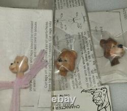 Vintage Cat Wingler The 3 Bears Character Kits Dollhouse Miniature 1989 Set of 3