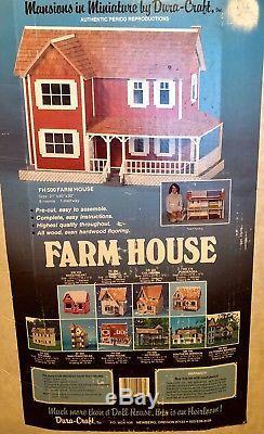 Vintage Dollhouse Kit Dura-craft Farmhouse Fh 500 21x40x30