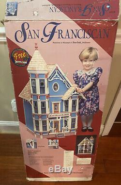 Vintage Dura-Craft San Franciscan Dollhouse LSF 555 1994 Complete