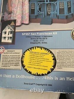 Vintage Dura-Craft San Franciscan Dollhouse SF 557 1999 NEW IN BOX RARE