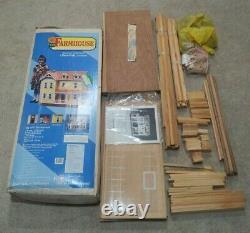 Vintage Dura-Craft Wood Farm House Dollhouse Kit FH 505 Farmhouse 1993 Open Box