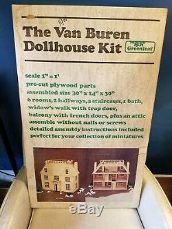 Vintage Greenleaf Huge Van Buren Dollhouse Kit Victorian Mansion new old stock