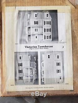 Vintage Hofco Victorian Townhouse Doll House Dollhouse #252 1980s UNBUILT kit