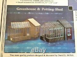 Vintage Lawbre Company Miniature Greenhouse AND Potting Shed Kit # 1222 NEW
