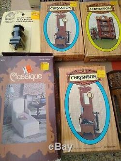 Vintage Lot NIB Miniature Dollhouse Furniture Accessories Figures