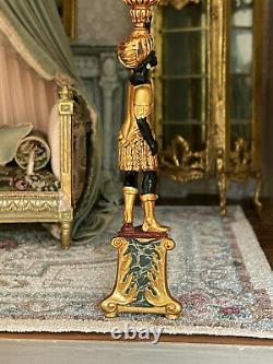 Vintage Miniature Dollhouse John Hodgson UK IGMA Artisan Sculpted Blackamoors