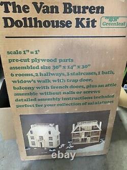Vintage The Van Buren Dollhouse Kit By Greenleaf Please Read