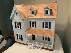 Vintage Victorian Hand Built Electrified Dollhouse 112 Scale