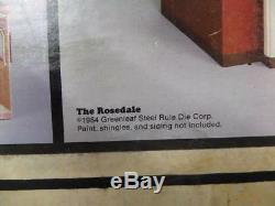 Vtg 1984 GREENLEAF Dollhouse Kit ROSEDALE House NO. 8018 1/12