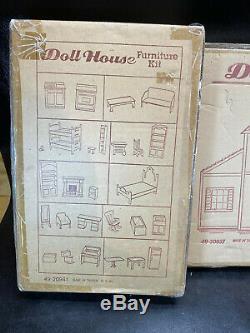 Vtg Cape Cod Dollhouse & Furniture Kits Sears 90s NEW in Box Doll House