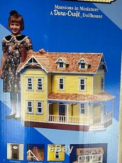 Vtg Dura Craft Wood Farm House FH 505 Doll House Kit Complete Unused 1993