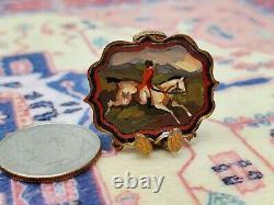 Vtg. Miniature Dollhouse Artist Natasha Beshenkovsky Victorian Oil Painting Tray