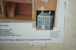 Vtg NORCRAFT CHELTENHAM Doll House Wood Kit 112 Scale Victorian Style Open Box